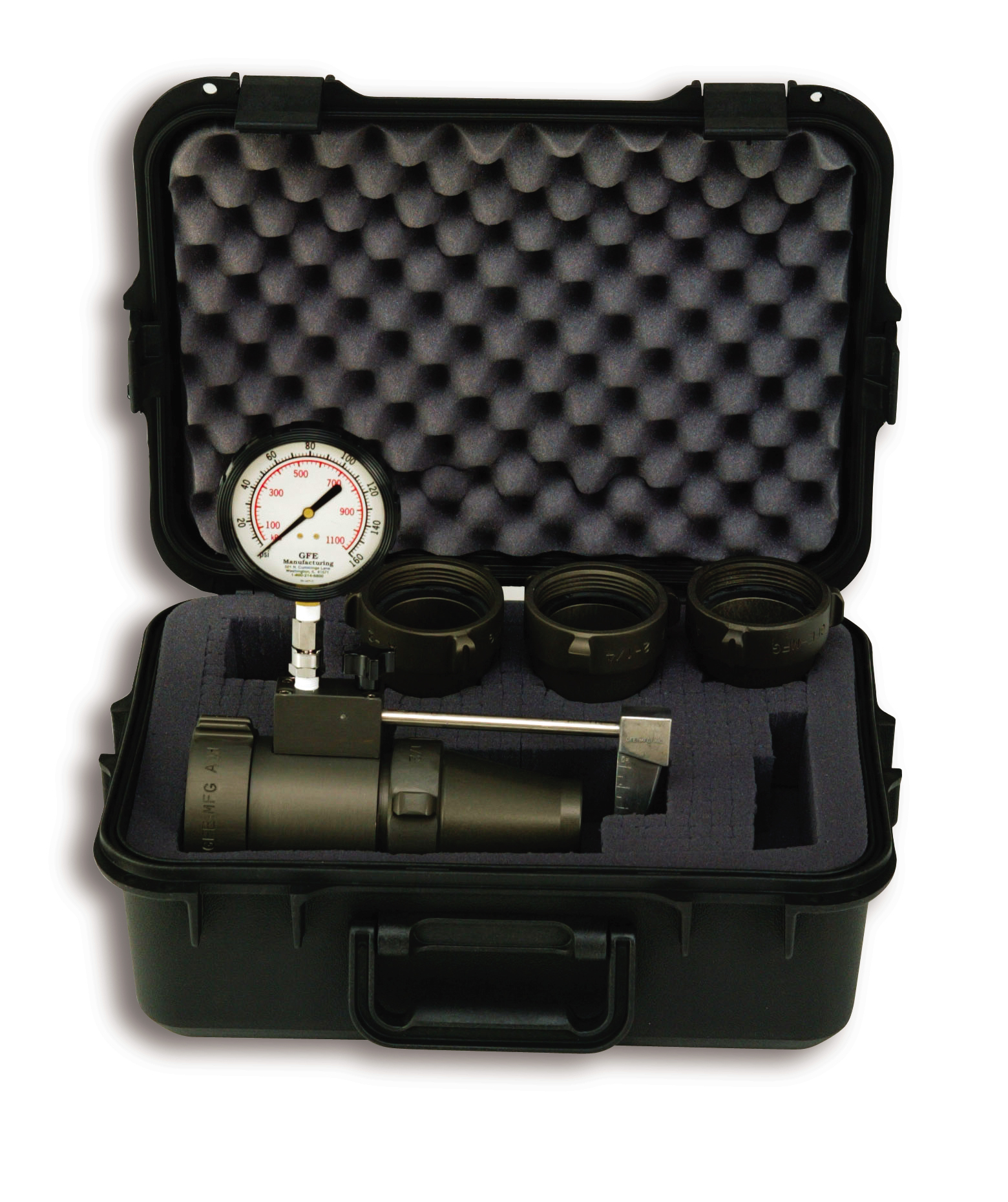 2 1/2'' (65 mm) Flow Test Kit with Case and any Four (4) Tips
